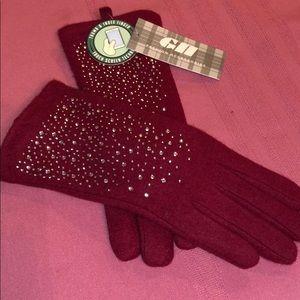Ladies Burgany 🧞♀️Touch Screen Gloves...